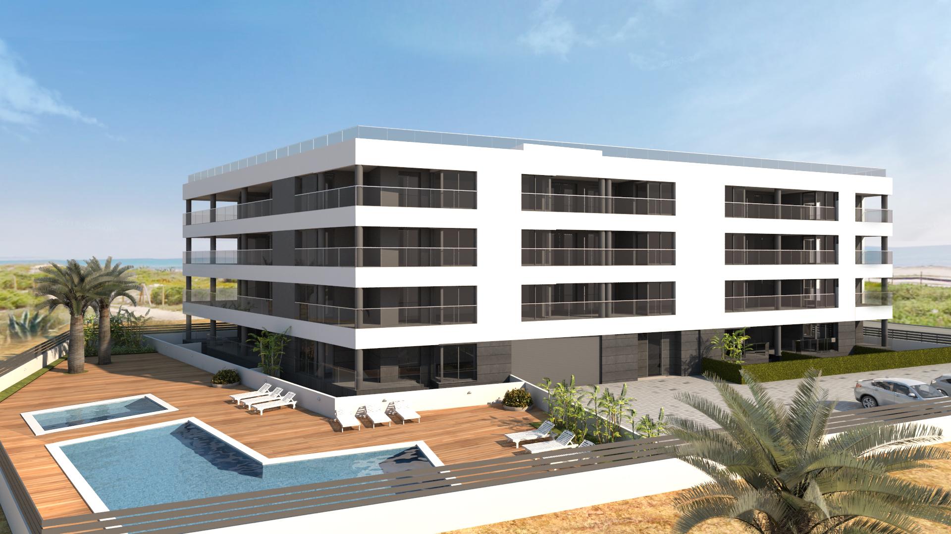 Appartement 3 Zimmer, 2 Bäder, Pool, 50 Meter vom Strand Entfernt